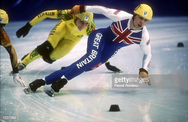 S 500 METER SHORT TRACK SPEED SKATING AT THE 1994 LILLEHAMMER WINTER OLYMPICS. GOOCH TAKES THE BRONZE. Mandatory Credit: Pascal Rondeau/ALLSPORT