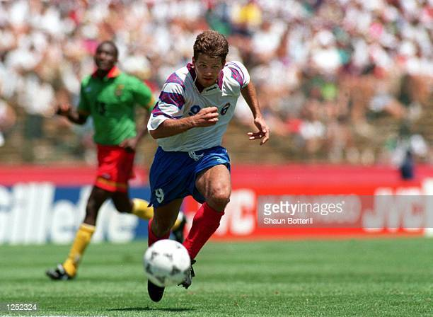 RUSSIA's 61 VICTORY OVER CAMEROON IN A 1994 WORLD CUP GAME AT STANFORD STADIUM IN PALO ALTO CA Mandatory Credit Shaun Botterill/ALLSPORT