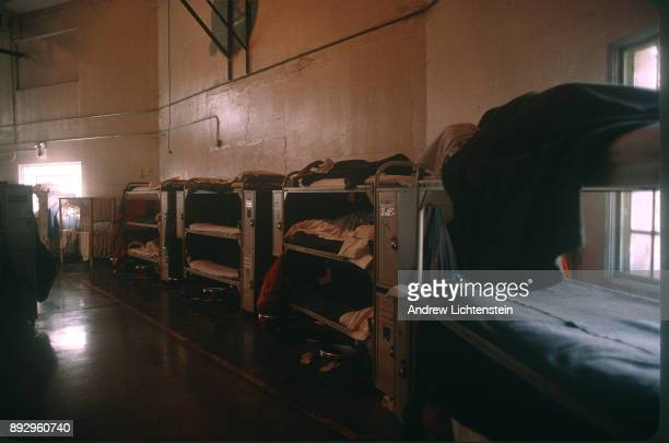 TRACY CA CIRCA 1990's A converted gym is used to house hundreds of prisoners at the Dual Vocational Institute a California state prison operating at...