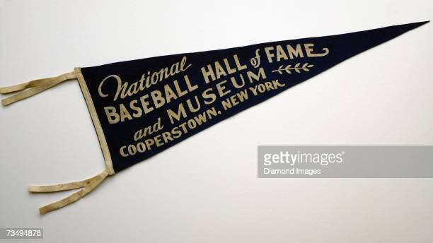 COOPERSTOWN NY 1950's A felt pennant from the 1950's for the National Baseball Hall of Fame and Museum in Cooperstown New York