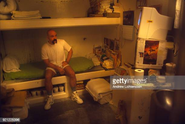 BAY CALIFORNIA CIRCA 1990's A prisoner sits in his cell in solitary confinement in the 1990's in California's Pelican Bay prison in Pelican Bay...