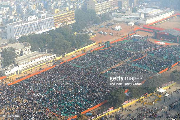 BJP's Abhinandan rallyduring election campaign in New Delhi on Saturday
