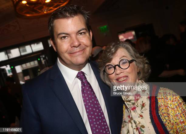 ATG's Adam Kenwright and Theater Producer Carole Shorenstein Hays pose at the opening night of Harry Potter and The Cursed Child Parts One 2 at The...