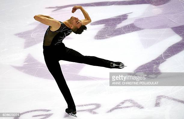 USA's Adam Rippon competes in the senior men short program at the ISU Grand Prix of Figure Skating Final on December 8 2016 in Marseille southern...