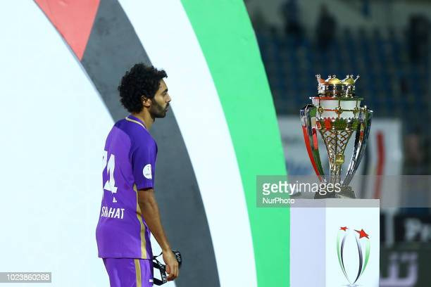 UAE's AlAin player Hussien ElShahat looks on Deject during the Arabian Gulf Super Cup match between Emirati teams AlWahda and AlAin at the 30 June...