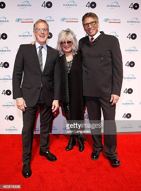 MTV VJ's Alan Hunter Nina Blackwood and Mark Goodman attend the TJ Martell Foundation 40th Anniversary New York Honors Gala at Cipriani Wall Street...