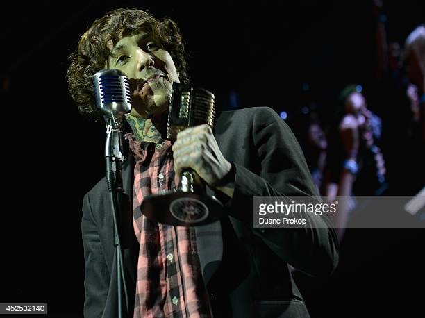 APMA's Album Of The Year Award winner Oliver Sykes of Bring Me the Horizon for Sempiternal at the 2014 Gibson Brands AP Music Awards>> at the Rock...