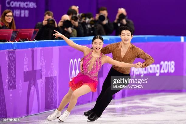 TOPSHOT USA's Alex Shibutani and USA's Maia Shibutani compete in the figure skating team event ice dance short dance during the Pyeongchang 2018...