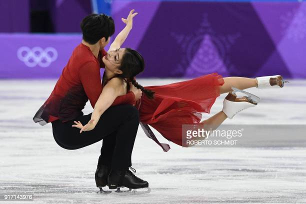 USA's Alex Shibutani and USA's Maia Shibutani compete in the figure skating team event ice dance free dance during the Pyeongchang 2018 Winter...