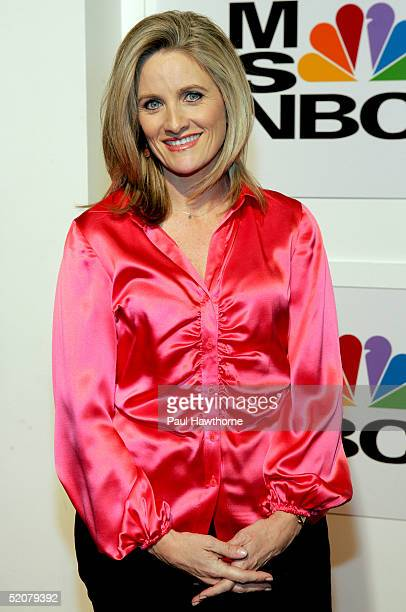 MSNBC's Alex Witt attends the launch party for MSNBC's new entertainment shows MSNBC at the Movies and MSNBC Entertainment Hot List at The Hit...