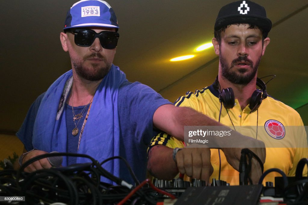 DJ's Ali Love (L) and Luca Cazal of Infinity Ink perform in The House by Heineken tent during the 2017 Outside Lands Music And Arts Festival at Golden Gate Park on August 12, 2017 in San Francisco, California.