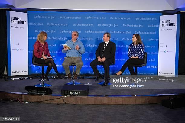 WASHINGTON DC DECEMBER NPR's Alison Aubrey moderates a panel on reducing waste and Increasing Efficiency with Robert van Otterdijk AgroIndustry...