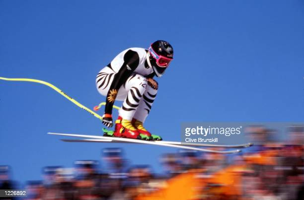WOMEN's ALPINE COMBINED DOWNHILL AT THE 1994 LILLEHAMMER WINTER OLYMPICS Mandatory Credit Clive Brunskill/ALLSPORT