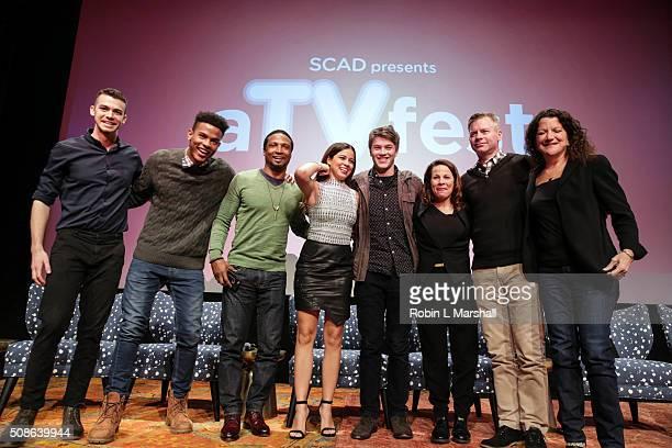 ABC's American Crime cast members attend 4th Annual aTVfest on February 5 2016 in Atlanta Georgia