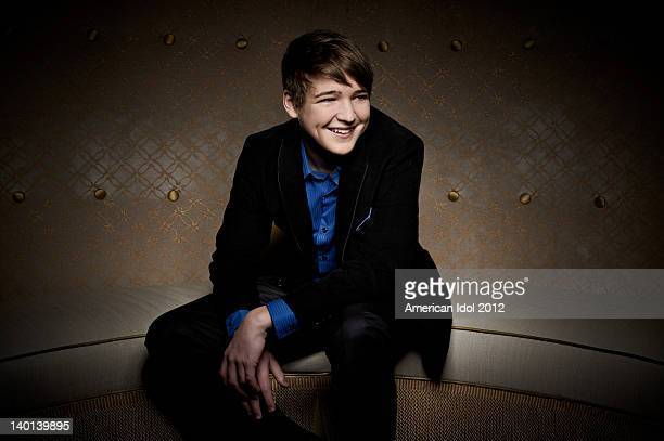 FOX's American Idol Season 11 Top 24 contestant Eben Franckewitz poses for a portrait on February 28 2012 in Hollywood California