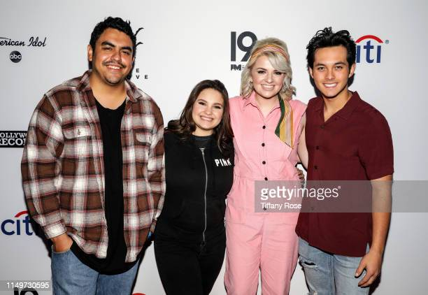 ABC's American Idol Top 10 finalists Alejandro Aranda Madison VanDenburg and Laine Hardy join reigning winner and runner up Maddie Poppe and Caleb...