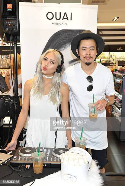 DJ's Amy Pham and Minh Pham attend OUAI And Jen Atkin Personal Appearance Event At Sephora at The Commons in Calabasas on June 25 2016