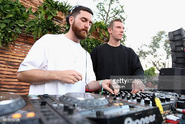 DJ's Andrew Ferguson and Matthew McBriar of Bicep performs onstage during FYF Fest 2016 at Los Angeles Sports Arena on August 28 2016 in Los Angeles...
