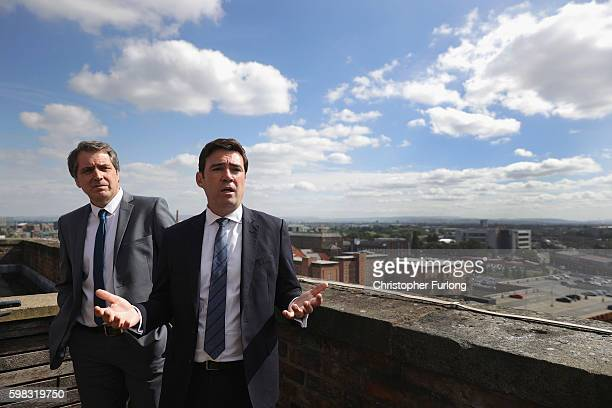 MP's Andy Burnham and Steve Rotheram Labour's mayoral candidates in Greater Manchester and the Liverpool cityregion respectively address the media...