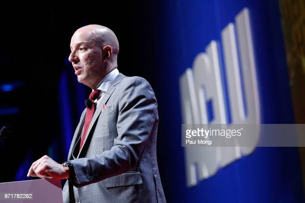 ACLU's Anthony D Romero speaks at the 2018 ACLU National Conference at the Washington Convention Center on June 11 2018 in Washington DC