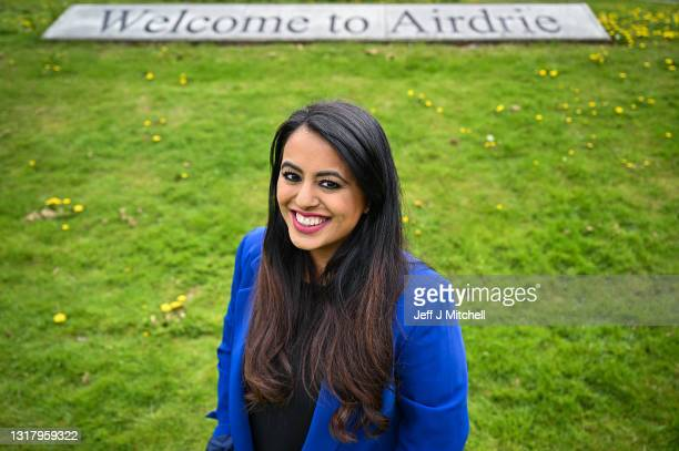 S Anum Qaisar-Javed, winner of the Airdrie and Shotts by-election, poses for a photograph at West End Park on May 14, 2021 in Airdrie, Scotland. The...