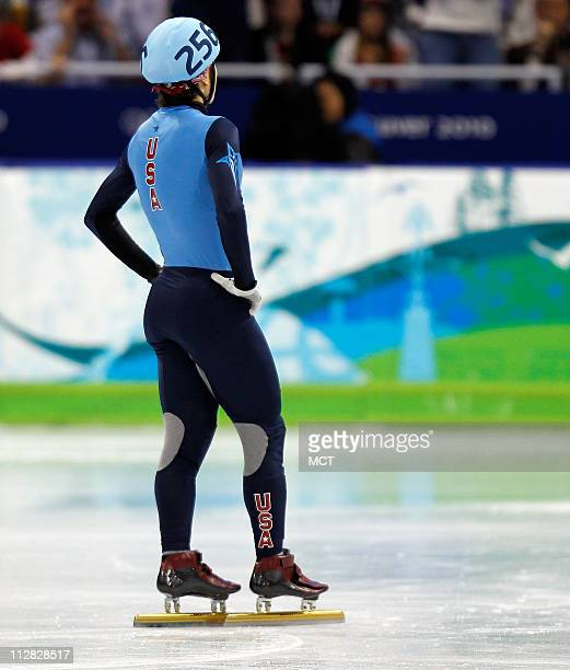 USA's Apolo Anton Ohno skates in the men's 500meter short track finals during the 2010 Winter Olympics in Vancouver British Columbia Friday February...