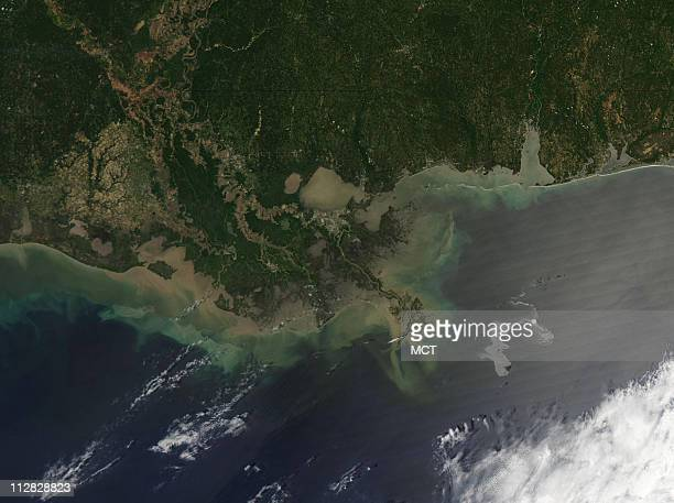 NASA's Aqua satellite captured this image of the Gulf of Mexico on April 25 2010 using its Moderate Resolution Imaging Spectroradiometer instrument...