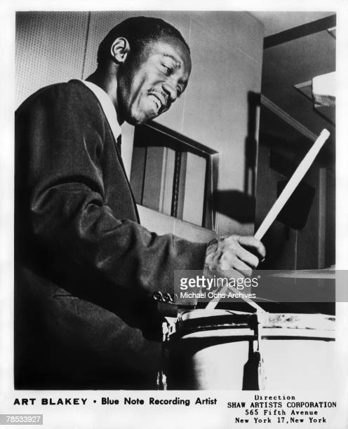 EARLY 1950's Art Blakey in the recording Studio for Blue Note Records in the early 1950's