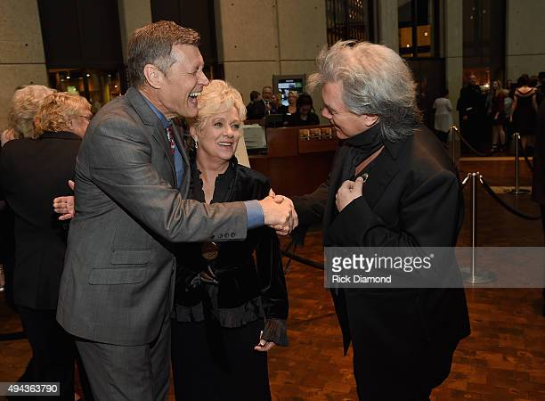 WSM 650AM's Bill Cody greets Connie Smith and Marty Stuart attend The Country Music Hall of Fame 2015 Medallion Ceremony at the Country Music Hall of...