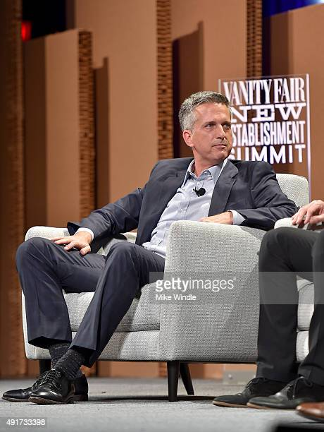 HBO's Bill Simmons speaks onstage during 'Ahead of the Curve The Future of Sports Journalism' at the Vanity Fair New Establishment Summit at Yerba...