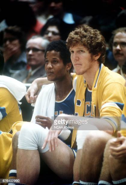 UCLA's Bill Walton during the last moments of the NCAA Photos via Getty Imagess via Getty Images National Basketball Championship Semifinal game in...