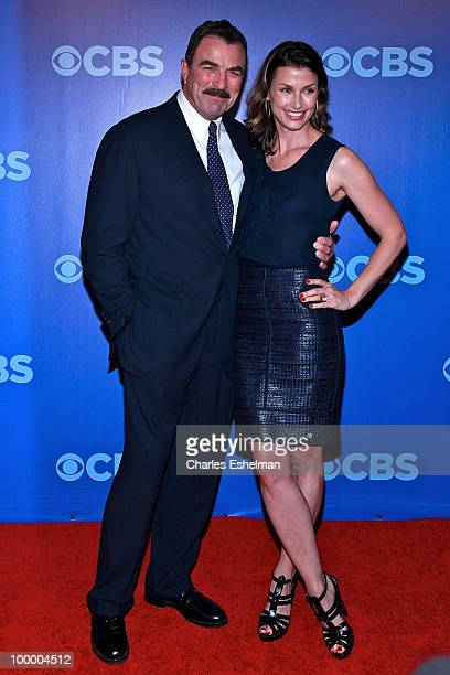 CBS's Blue Bloods actors Tom Selleck and Bridget Moynahan attend the 2010 CBS UpFront at Damrosch Park Lincoln Center on May 19 2010 in New York City