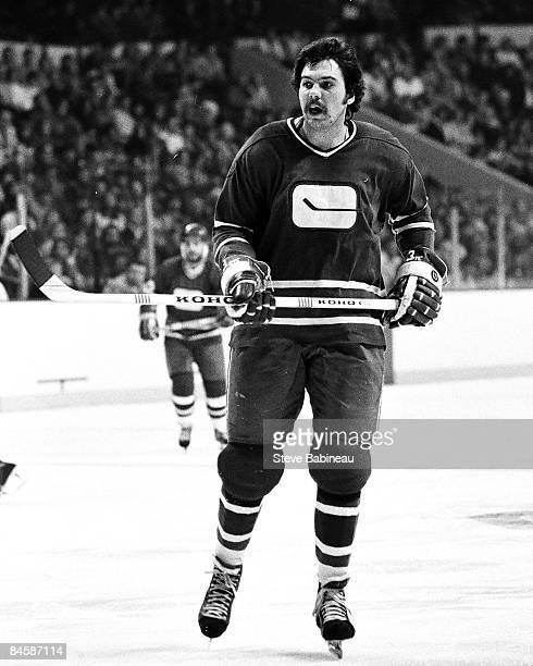 BOSTON MA 1970's Bob Dailey of the Vancouver Canucks skates against the Boston Bruins at Boston Garden