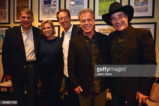 ACM's Bob Romeo ACM's Lisa Lee Producer Barry Adelman Producer RA Clark and Musician Clint Black arrive at the Fifty Years Of The ACM Awards Panel...