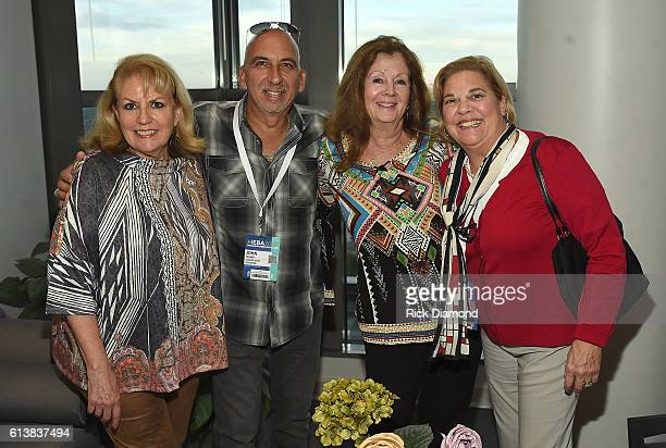 APA's Bonnie Sugarman Eastern States Exposition's John Juliano Bebe Evans of Charlie Daniels Band attend the APA IEBA Reception on October 10 2016 in...