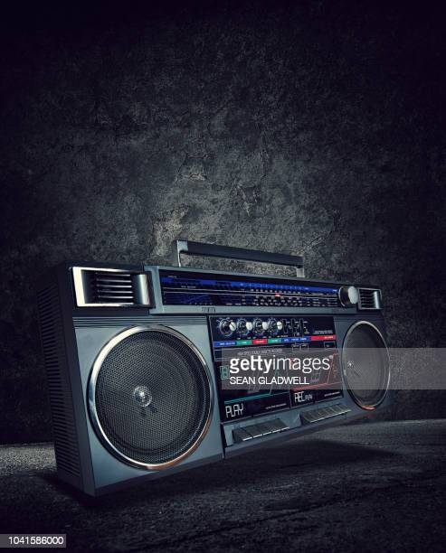 1980's boombox - hip hop music stock pictures, royalty-free photos & images