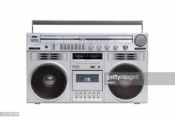 80's boombox - radio stock pictures, royalty-free photos & images