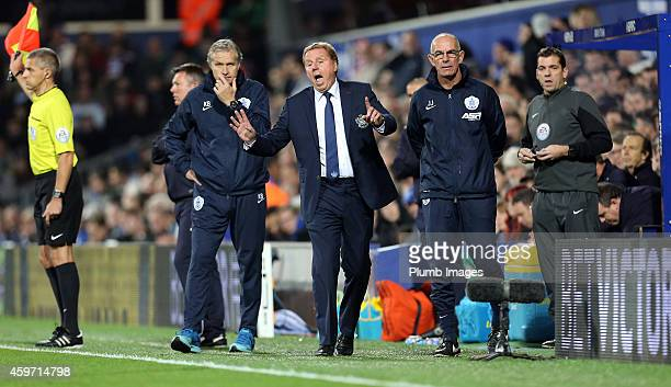 S boss Harry Redknapp during the Barclays premier League match between Queens Park Rangers and Leicester City at Loftus Road on November 29, 2014 in...