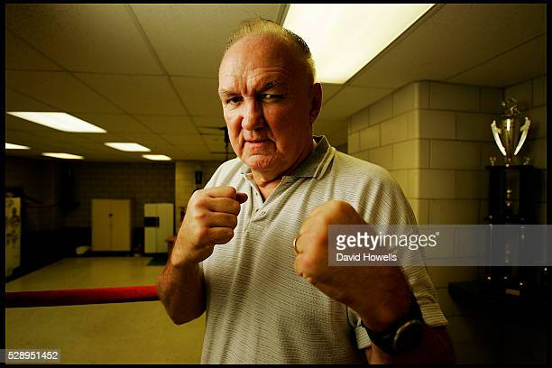 1970's Boxer Chuck Wepner who was one of the few fighters ever to knock down Ali and was the inspiration for the Rocky movies Photographed in Bayonne...