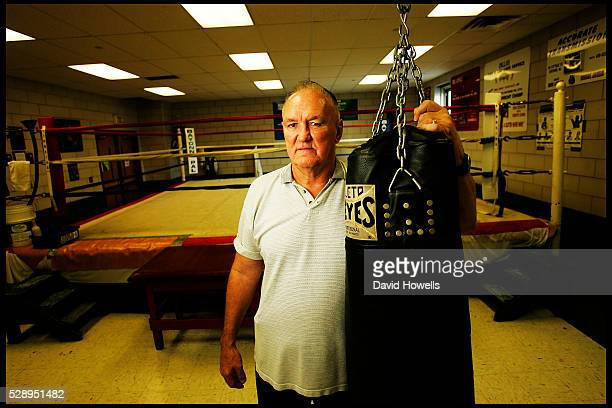 S Boxer, Chuck Wepner, who was one of the few fighters ever to knock down Ali, and was the inspiration for the Rocky movies. Photographed in Bayonne,...