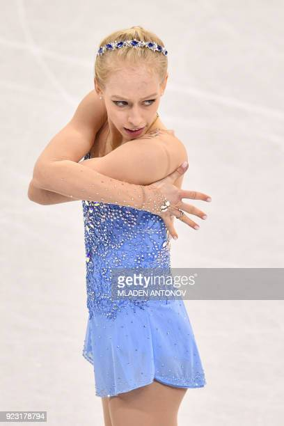 USA's Bradie Tennell competes in the women's single skating free skating of the figure skating event during the Pyeongchang 2018 Winter Olympic Games...