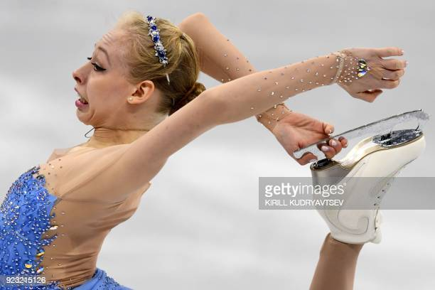 TOPSHOT USA's Bradie Tennell competes in the women's single skating free skating of the figure skating event during the Pyeongchang 2018 Winter...