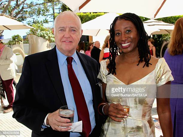 BAFTA's Brian Bolton and Karen Brailsford attend the 2014 BAFTA Los Angeles TV Tea presented by BBC America and Jaguar at SLS Hotel on August 23 2014...