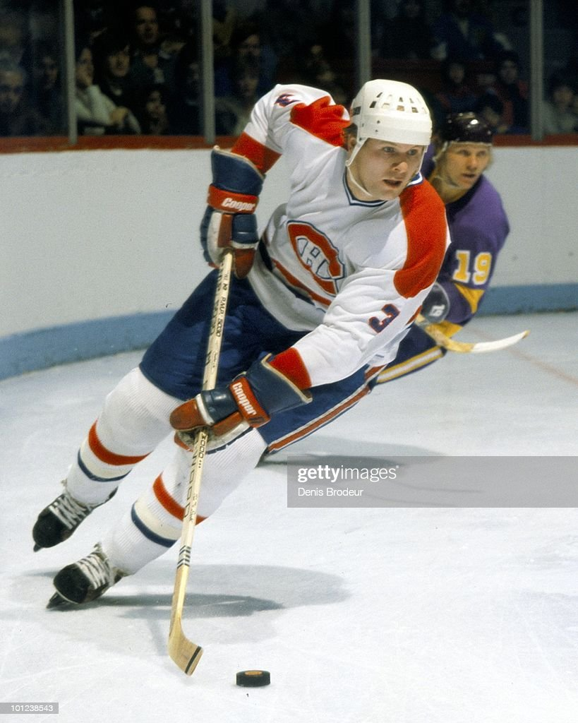 MONTREAL - 1970's: Brian Engblom #3 of the Montreal Canadiens skates in the 1970's at the Montreal Forum in Montreal, Quebec, Canada. Engblom played for the Canadiens from 1976-1982.