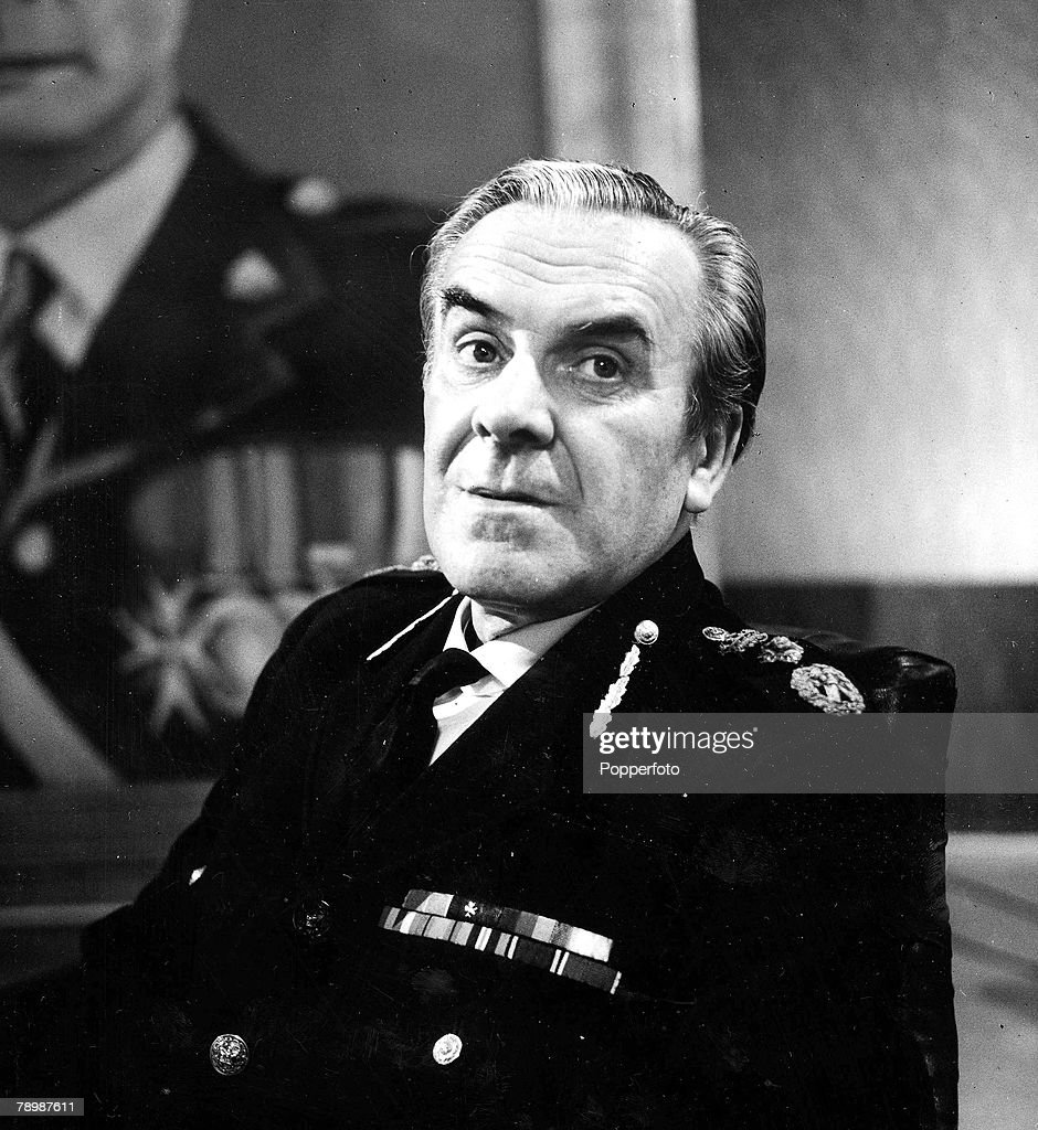 1960's. British actor John Le Mesurier, best known for his role as Sergeant Wilson in the comedy series 'Dads Army', is shown in his role as a Zig-Zag pilot in the play 'Upheavals Likely Amongst Near and Dear'. : News Photo