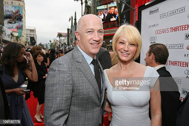 CAA's Bryan Lourd and Ellen Barkin during Warner Bros Pictures Village Roadshow Pictures Jerry Weintraub and Section 8 Productions Host the North...