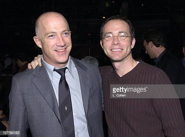CAA's Bryan Lourd and Richard Lovett during Robi Draco Rosa Showcase at The El Rey Theatre in Los Angeles California United States