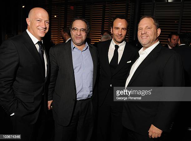 CAA's Bryan Lourd Producerr Bob Weinstein Director Tom Ford and Producer Harvey Weinstein attends the A Single Man After Party held at Jamie Kennedy...