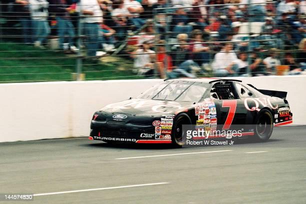 S car on the track at the Watkins Glen International raceway, Watkins Glen, New York, 1996.