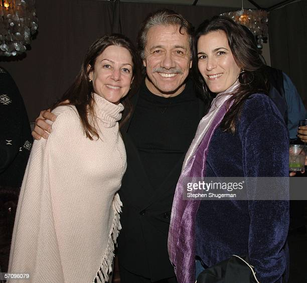 HBO's Carrie Frazier actor Edward James Olmos and HBO's Ann Jo Berman attend the after party for the premiere of HBO's film Walkout at the Cabana...
